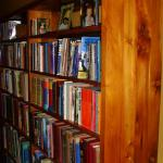 Recycled timber bookcase