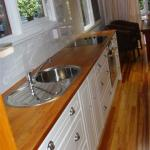 recycled rimu worktops and placemaker units