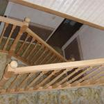 new rimu post and handrails, mouldings.